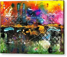 There's A Celebration In The City Acrylic Print by Angela L Walker