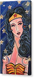 There's A Wonder Woman In Us All Acrylic Print