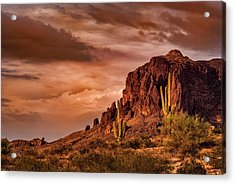 Acrylic Print featuring the photograph There's Gold In Them Hills  by Saija Lehtonen
