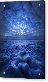 There's No Point Escaping Acrylic Print by Phil Koch