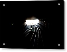 Therz Always Light At The End Of The Tunnel Acrylic Print by Sateesh Challa