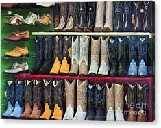 These Boots Are Made For Walkin'... Acrylic Print by Mark Hendrickson