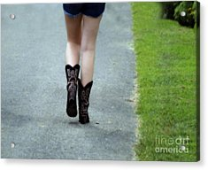 These Boots Are Made For Walking Acrylic Print by Steven  Digman