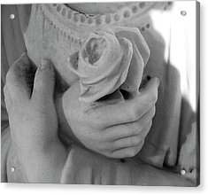 These Hands Acrylic Print by Barbara Palmer