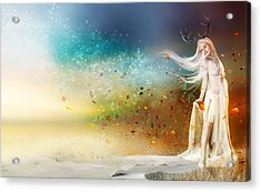 They Call Me Winter Acrylic Print by Mary Hood