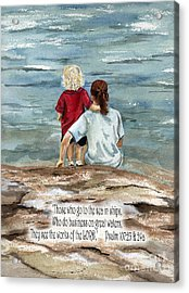They See The Works Of The Lord  Acrylic Print by Nancy Patterson