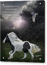 They Shall Run And Not Be Weary Acrylic Print by Terry Kirkland Cook
