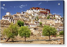 Acrylic Print featuring the photograph Thikse Monastery by Alexey Stiop