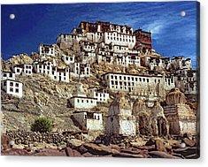 Thiksey Monastery Acrylic Print by Steve Harrington
