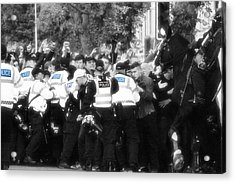 Thin Blue Line Acrylic Print by Tin Lid Photography