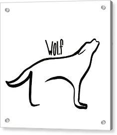 Thin Wolf Acrylic Print