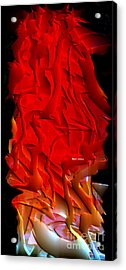 Acrylic Print featuring the digital art Things Are Getting Hot by Rafael Salazar
