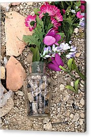 Acrylic Print featuring the photograph Things Remembered Terlingua Cemetary by Kerry Beverly