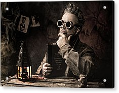 Acrylic Print featuring the photograph Things To Consider - Steampunk - World Domination by Gary Heller