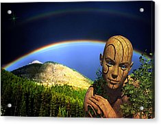 Acrylic Print featuring the digital art Think Green by Shadowlea Is