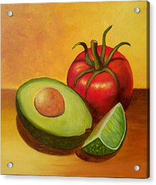 Acrylic Print featuring the painting Think Guacamole - Sold by Susan Dehlinger
