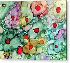 Acrylic Print featuring the painting Think Spring by Denise Tomasura