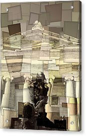 Thinker Cleveland Museum Of Art Cubism Acrylic Print by Dan Sproul