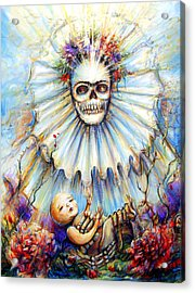 Acrylic Print featuring the painting Thinking About Life by Heather Calderon