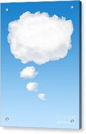 Thinking Cloud Acrylic Print by Carlos Caetano