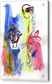 Thinking Of Tonight Acrylic Print by Amara Dacer