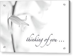 Thinking Of You Notecard Acrylic Print