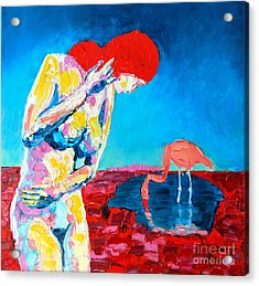 Acrylic Print featuring the painting Thinking Woman by Ana Maria Edulescu
