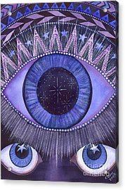 Third Eye Chakra Acrylic Print by Catherine G McElroy