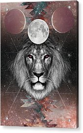Third Eye Lion Vision Acrylic Print by Lori Menna