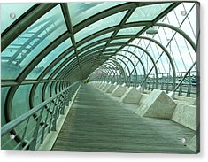 Third Millenium Bridge, Zaragoza, Spain Acrylic Print