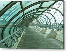 Third Millenium Bridge, Zaragoza, Spain Acrylic Print