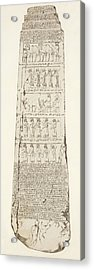 Third Side Of Obelisk, Illustration From Monuments Of Nineveh Acrylic Print by Austen Henry Layard