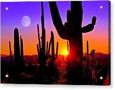 Third Sunset At Saguaro Acrylic Print