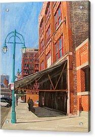 Third Ward - Broadway Awning Acrylic Print by Anita Burgermeister