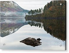 Thirlmere Hourglass Acrylic Print by Tony Higginson