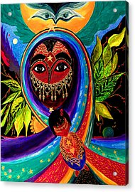 Acrylic Print featuring the painting Mother And Child by Marina Petro