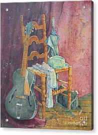 This Gibson Came To Play Acrylic Print by Sarah Luginbill