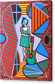 This Guitar Is More Than An Instrument Acrylic Print by Patrick J Murphy