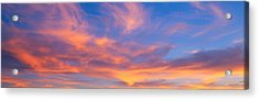 This Is A Sunset Sky Acrylic Print by Panoramic Images
