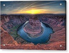 This Is Arizona No. 3 - Windy Horseshoe Bend Acrylic Print by Paul W Sharpe Aka Wizard of Wonders