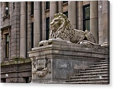 This Is British Columbia No.48 - Vancouver Art Gallery Lion Acrylic Print by Paul W Sharpe Aka Wizard of Wonders