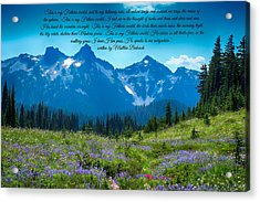 This Is My Fathers World 3 Acrylic Print by Lynn Hopwood