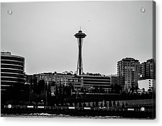This Is Seattle Black And White Acrylic Print