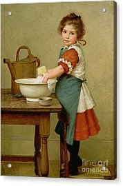 This Is The Way We Wash Our Clothes  Acrylic Print by George Dunlop Leslie