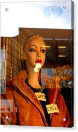 This Jacket Is Not Me Acrylic Print by Jez C Self