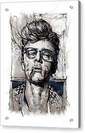 This James Dean Inking And Painting Acrylic Print
