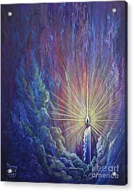 Acrylic Print featuring the painting This Little Light Of Mine by Nancy Cupp
