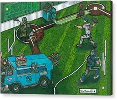 This Makes About As Much Sense As A Football Bat Acrylic Print