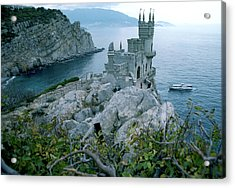 This Neo-gothic Castle Overlooks Acrylic Print by Steve Raymer