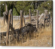 This Old Fence Acrylic Print by Charlie Osborn